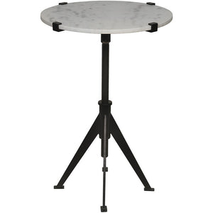 Noir Noir Edith Small Adjustable Black Metal Side Table GTAB679MTB-S
