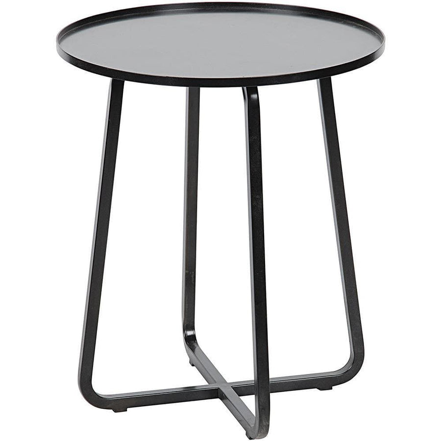 Noir Kimana Black Metal Side Table