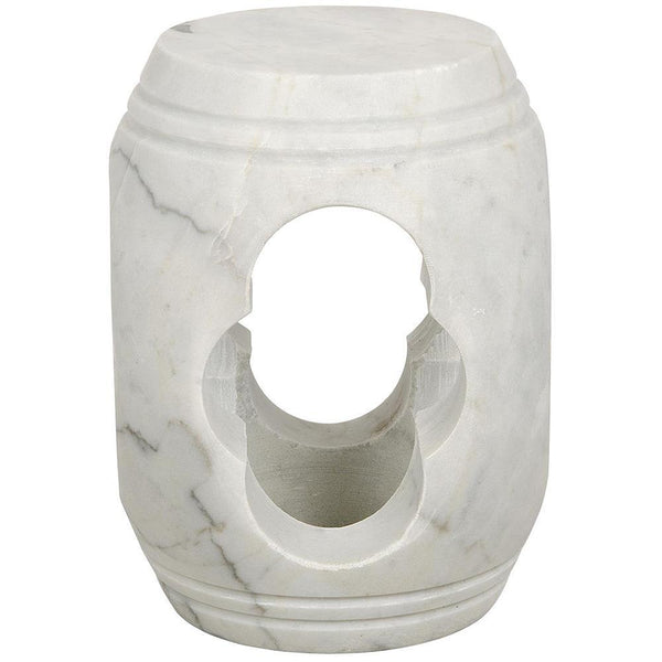 Noir Legend White Stone Stool