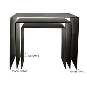 Noir Yves Black Metal Side Table - 3 Available Sizes