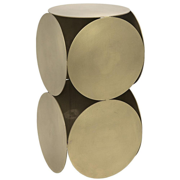 Noir Lola Brass Side Table