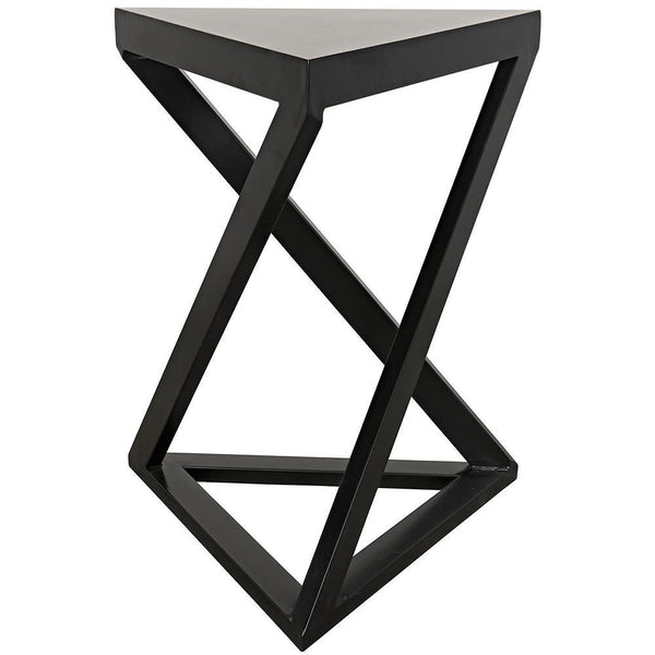Noir Orpheo Black Metal Side Table