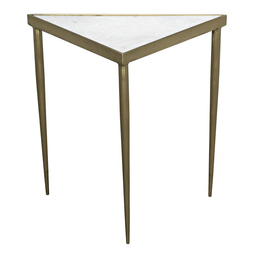 Noir Comet Triangle Stone Side Table - 3 Available Sizes