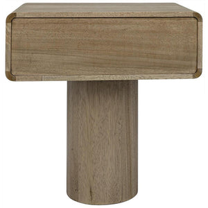 Noir Langford Washed Walnut Side Table