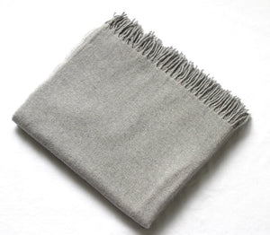 Harlow Henry Harlow Henry Cashmere Collection Throw Grey