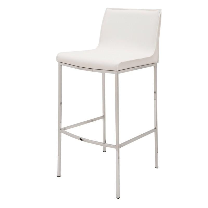 Nuevo Colter Bar Stool - White | Alchemy Fine Home