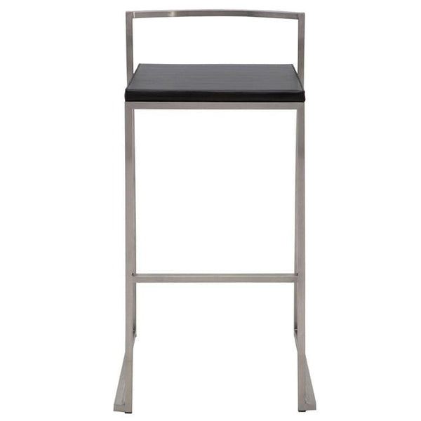 Nuevo Genoa Bar Stool - Black | Alchemy Fine Home