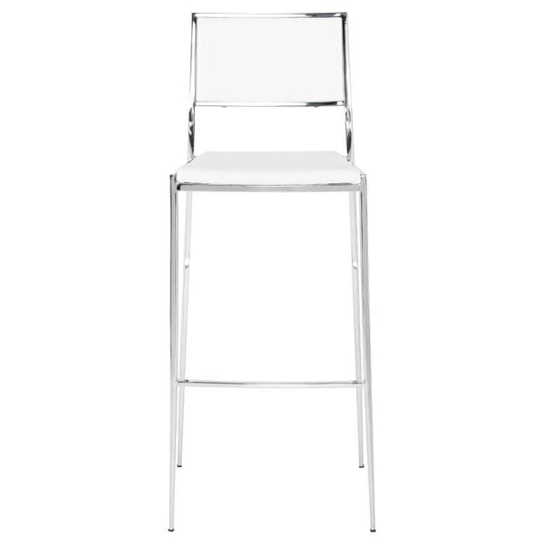 Nuevo Aaron Bar Stool - White | Alchemy Fine Home