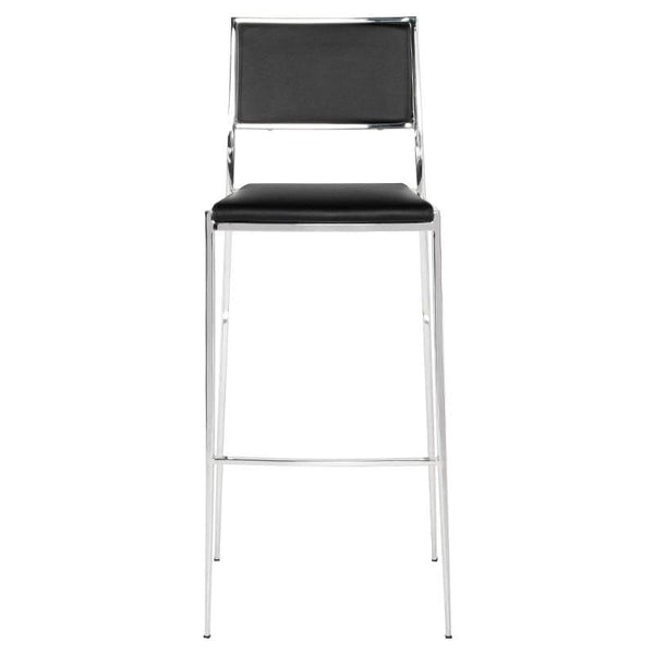 Nuevo Aaron Bar Stool - Black | Alchemy Fine Home