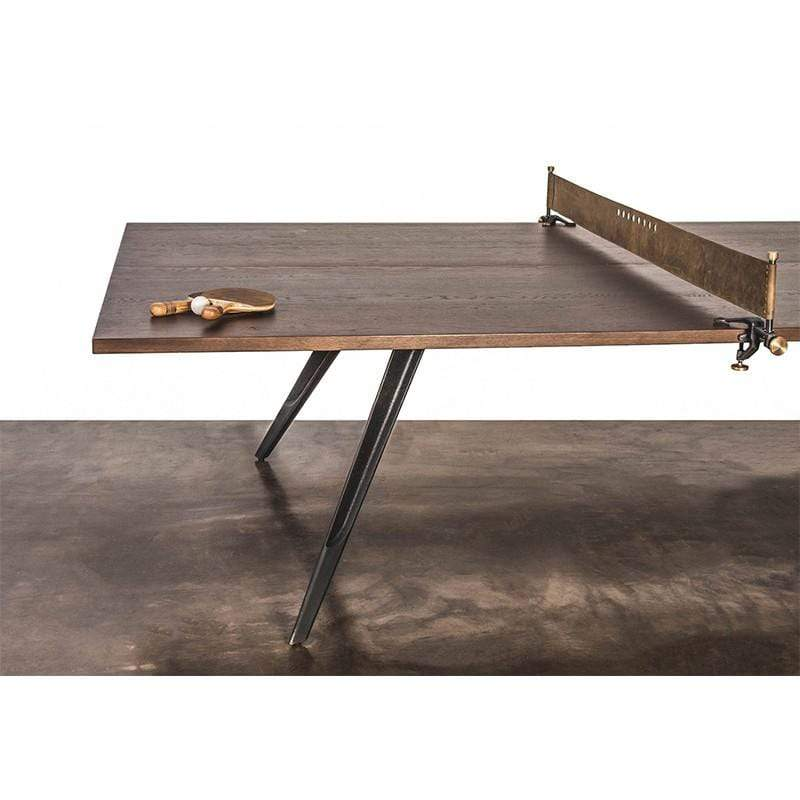 District Eight Ping Pong Table Gaming Table - Smoked | Alchemy Fine Home