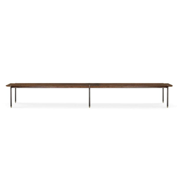 District Eight Stacking Bench Occasional Bench - Smoked | Alchemy Fine Home