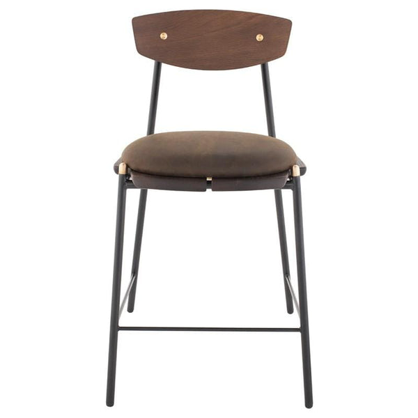 District Eight Kink Bar Stool - Smoked | Alchemy Fine Home