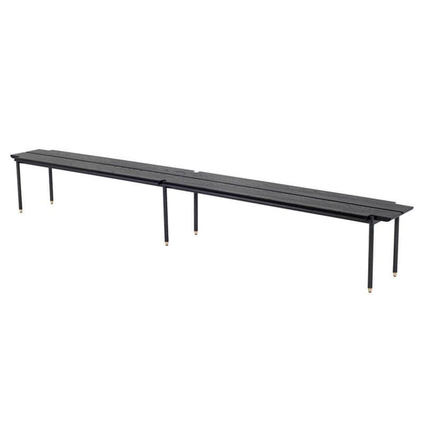 District Eight Stacking Bench Occasional Bench - Black | Alchemy Fine Home