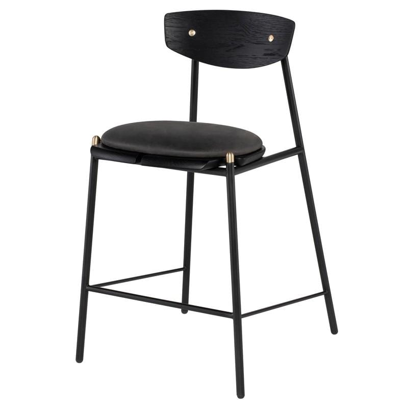 District Eight Kink Counter Stool - Storm Black | Alchemy Fine Home