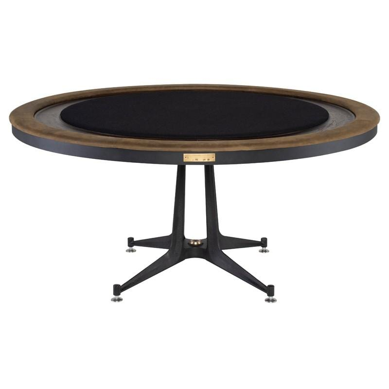 District Eight Poker Table Gaming Table - Smoked | Alchemy Fine Home