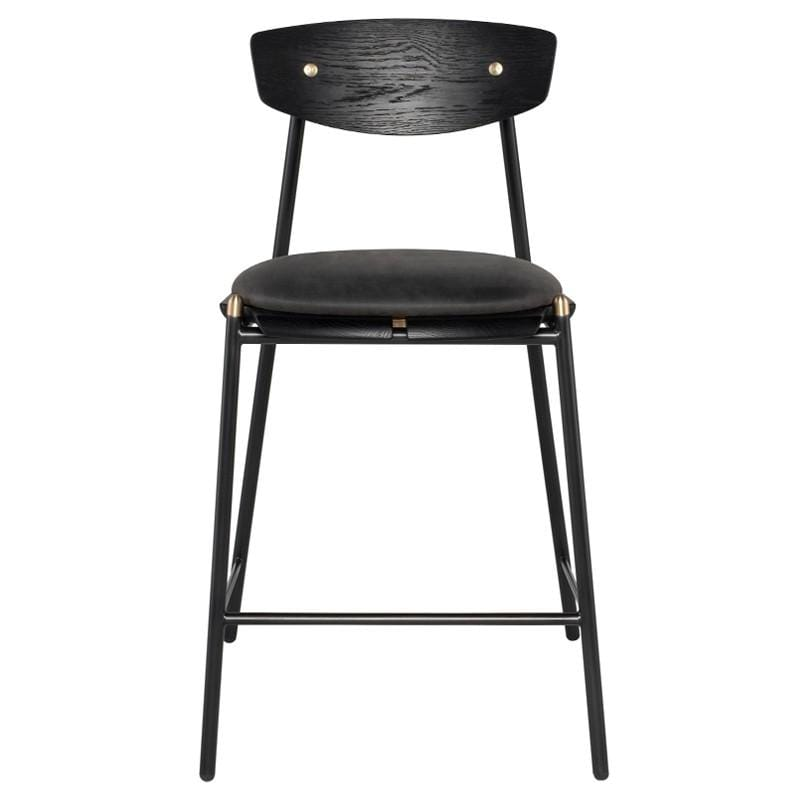 District Eight District Eight Kink Bar Stool - Storm Black HGDA777