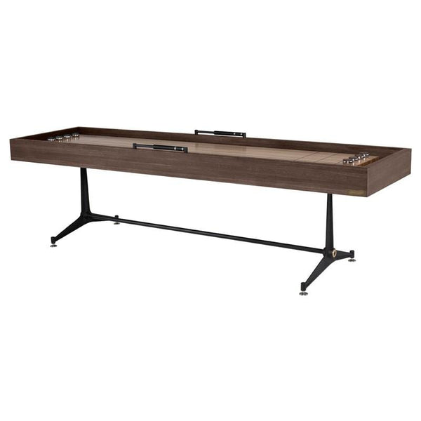 District Eight Shuffleboard Gaming Table - Smoked | Alchemy Fine Home