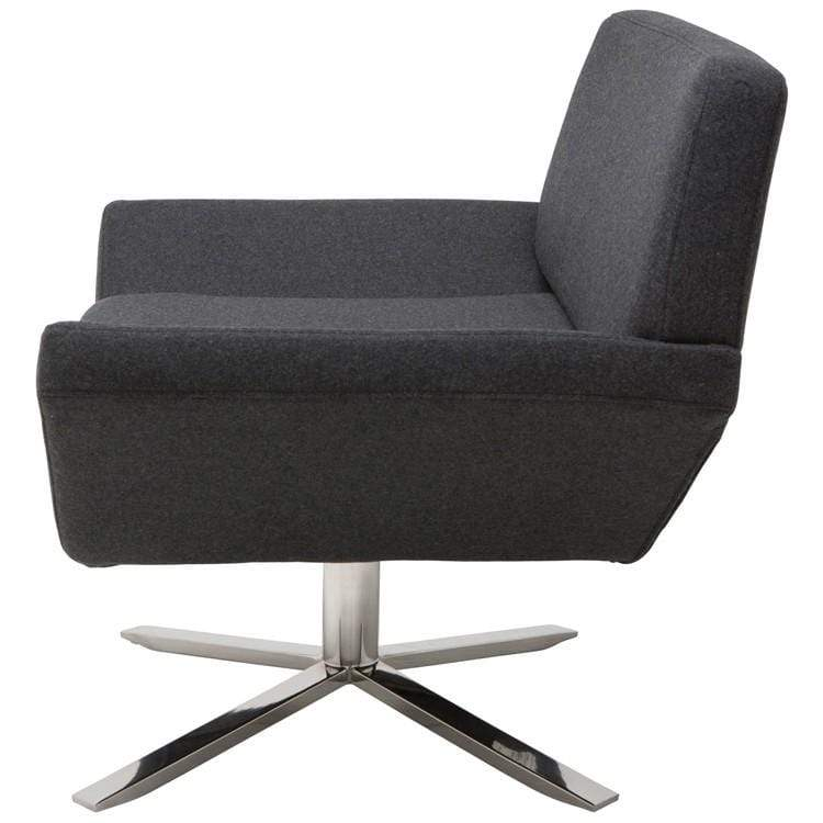 Nuevo Sly Occasional Chair - Dark Grey | Alchemy Fine Home