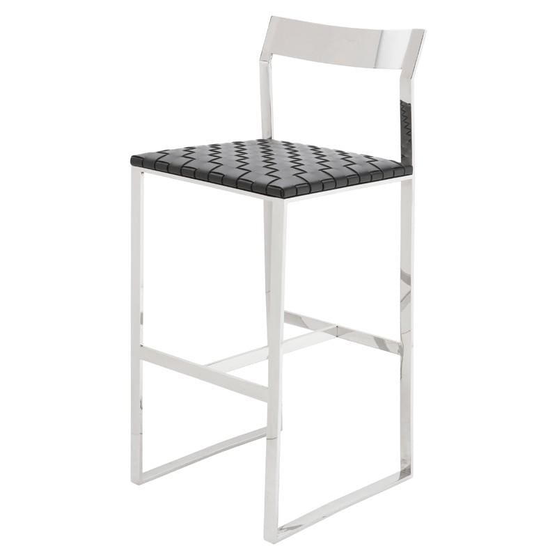 Nuevo Camille Bar Stool - Black | Alchemy Fine Home