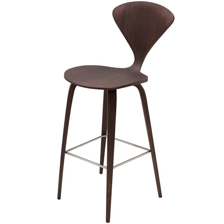 Nuevo Satine Counter Stool - Dark Walnut | Alchemy Fine Home