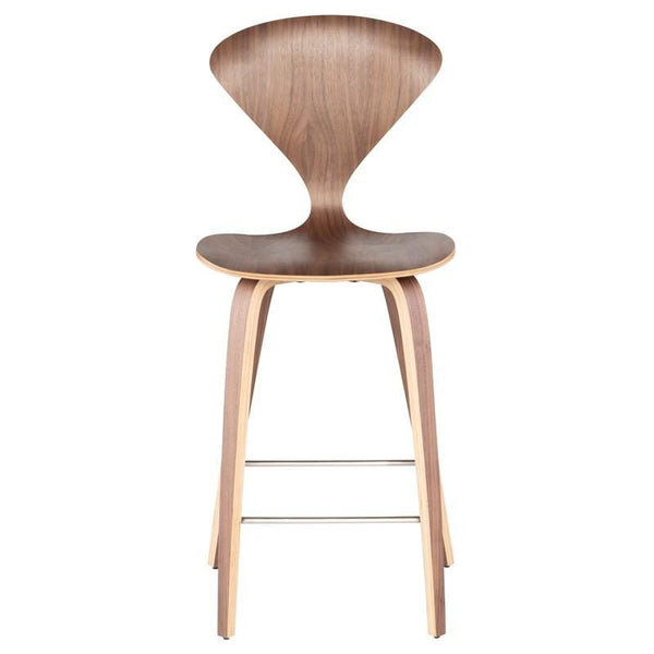 Nuevo Satine Counter Stool - Walnut | Alchemy Fine Home