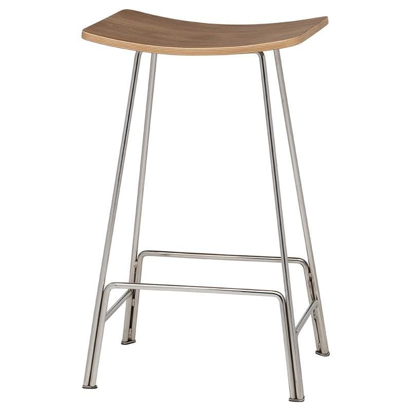 Nuevo Kirsten Counter Stool - Walnut | Alchemy Fine Home