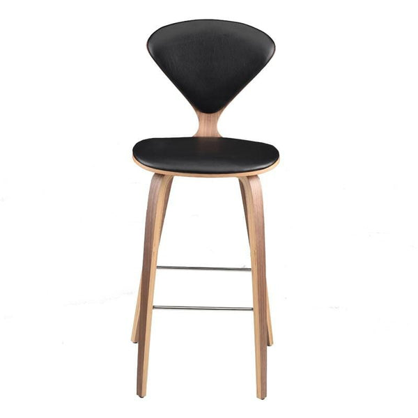 Nuevo Satine Counter Stool - Black | Alchemy Fine Home