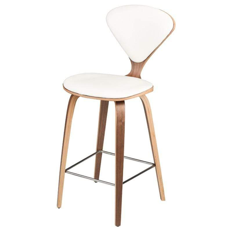 Nuevo Satine Counter Stool - White | Alchemy Fine Home