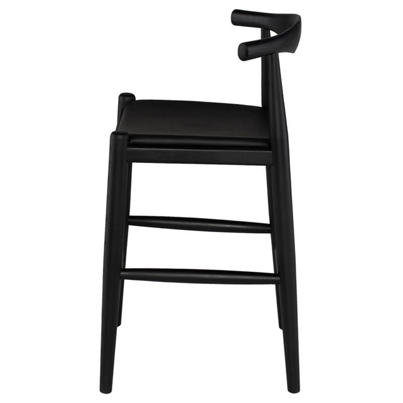 Nuevo Maja Counter Stool - Black | Alchemy Fine Home