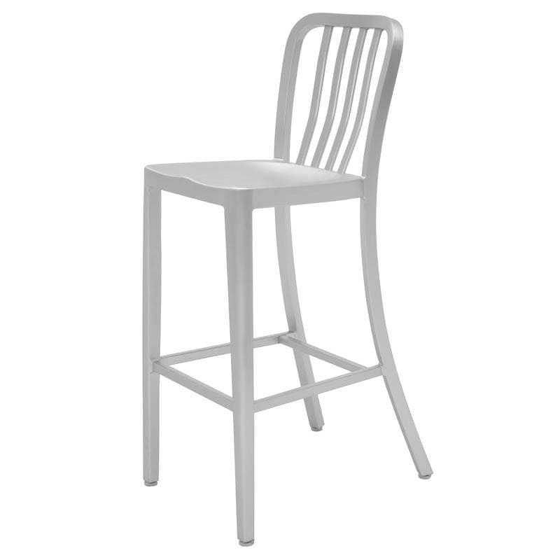 Nuevo Soho Counter Stool - Silver | Alchemy Fine Home