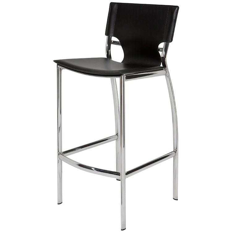 Nuevo Lisbon Counter Stool - Black | Alchemy Fine Home