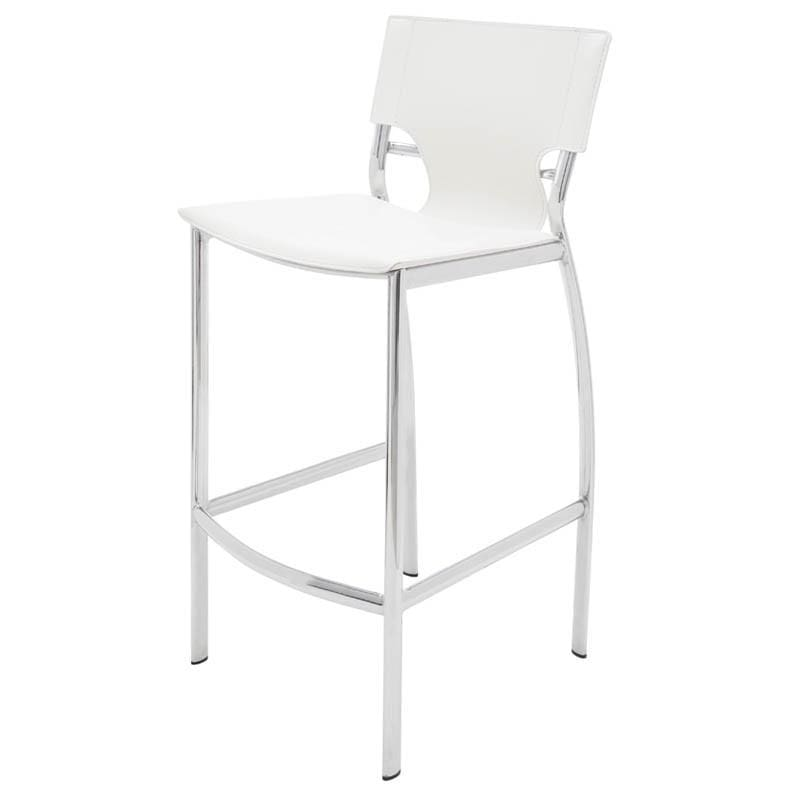 Nuevo Lisbon Counter Stool - White | Alchemy Fine Home
