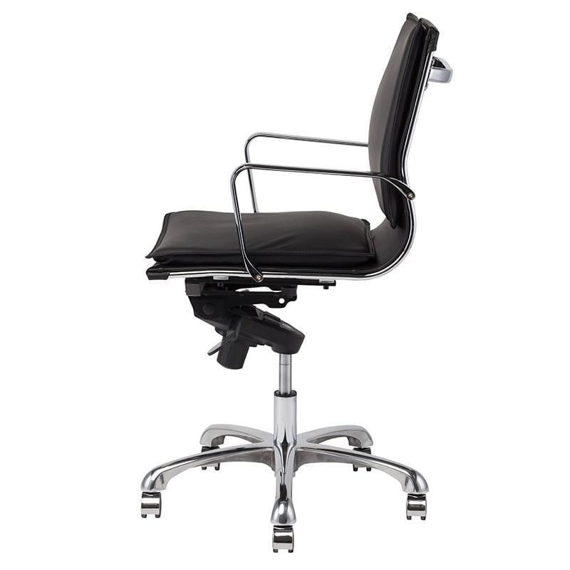 Nuevo Carlo Office Chair - Black Leather | Alchemy Fine Home