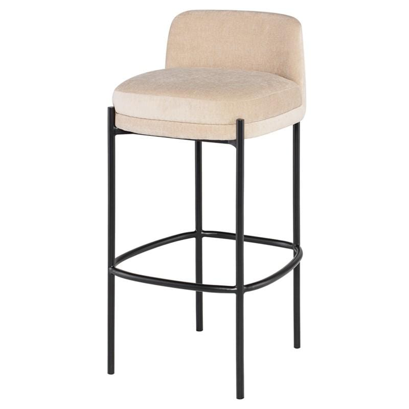 Nuevo Inna Bar Stool - Almond w/ Seat Top | Alchemy Fine Home