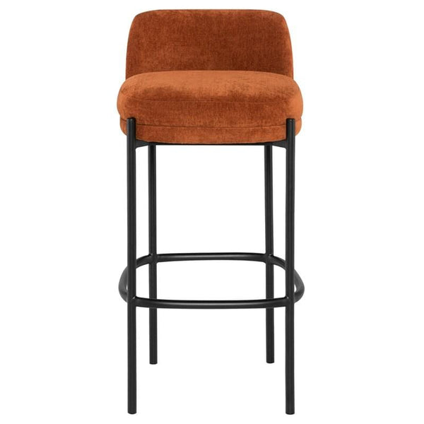 Nuevo Inna Bar Stool - Terra Cotta w/ Seat Top | Alchemy Fine Home