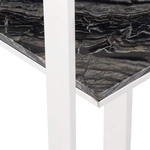 Nuevo Tierra Console Table - Black Wood Vein | Alchemy Fine Home