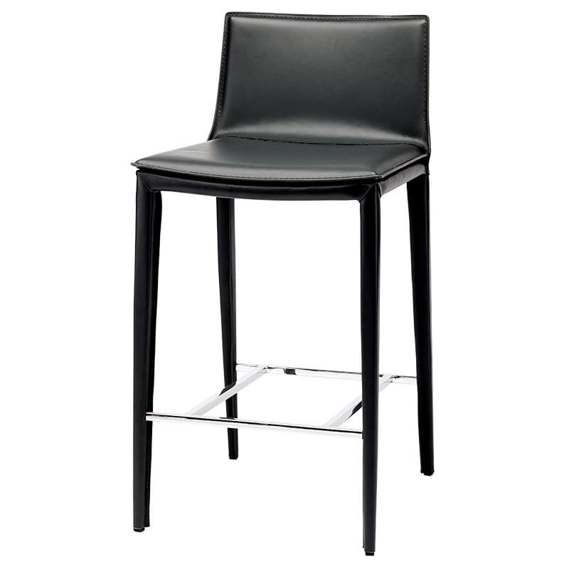 Nuevo Palma Counter Stool - Black | Alchemy Fine Home