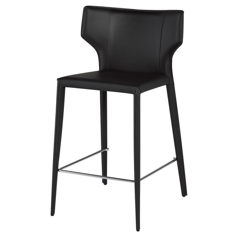 Nuevo Wayne Counter Stool - Black | Alchemy Fine Home