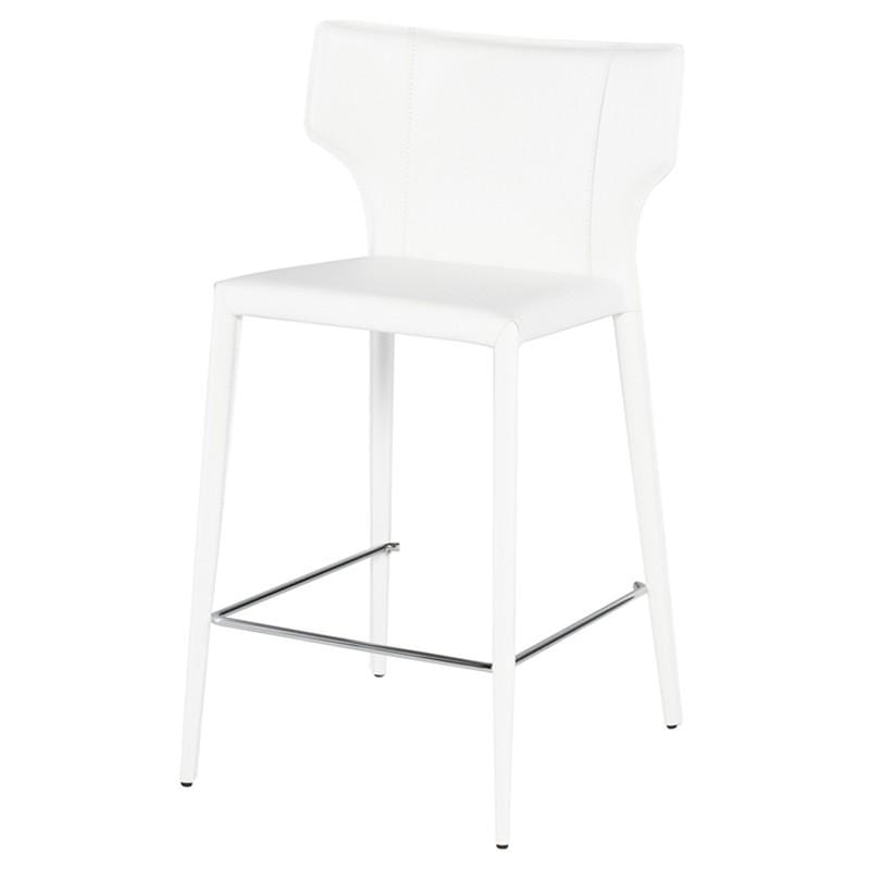 Nuevo Wayne Counter Stool - White | Alchemy Fine Home