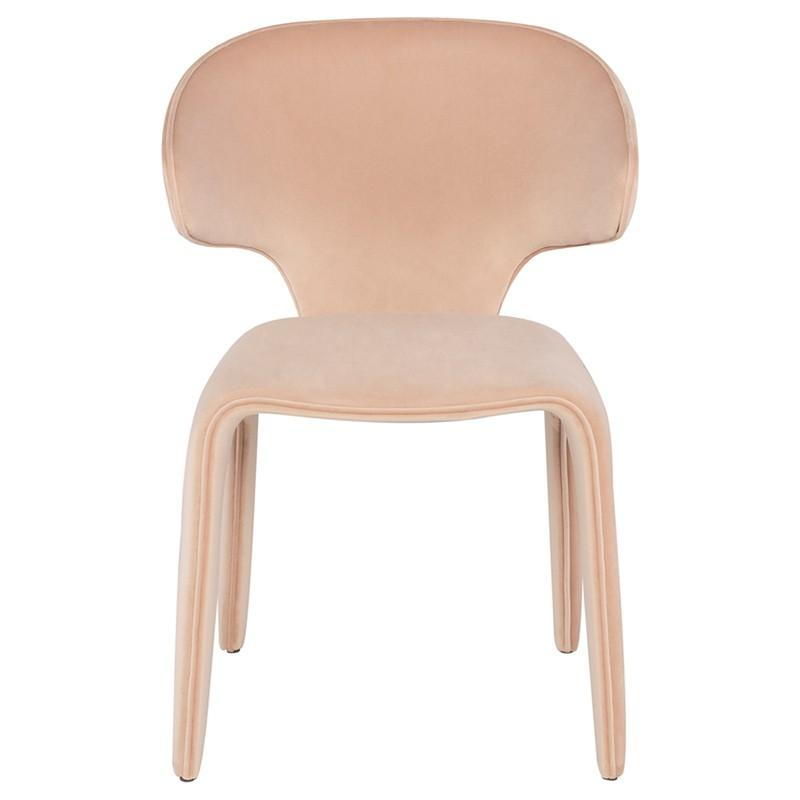 Nuevo Bandi Dining Chair - Peach Velour | Alchemy Fine Home