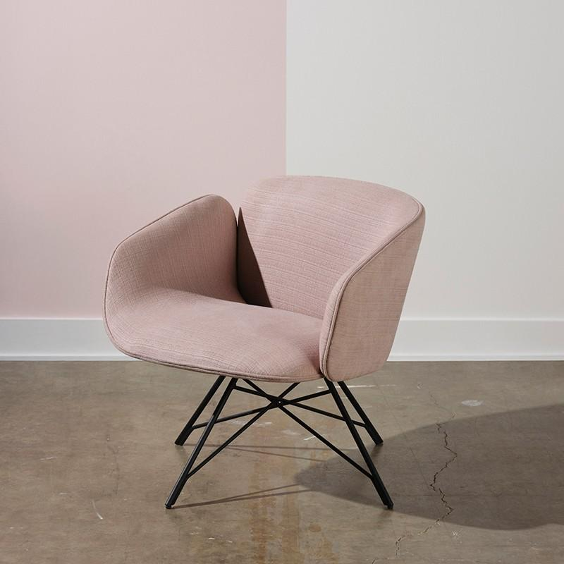 Nuevo Doppio Occasional Chair - Mauve | Alchemy Fine Home