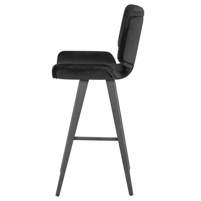 Nuevo Astra Bar Stool - Shadow Grey | Alchemy Fine Home