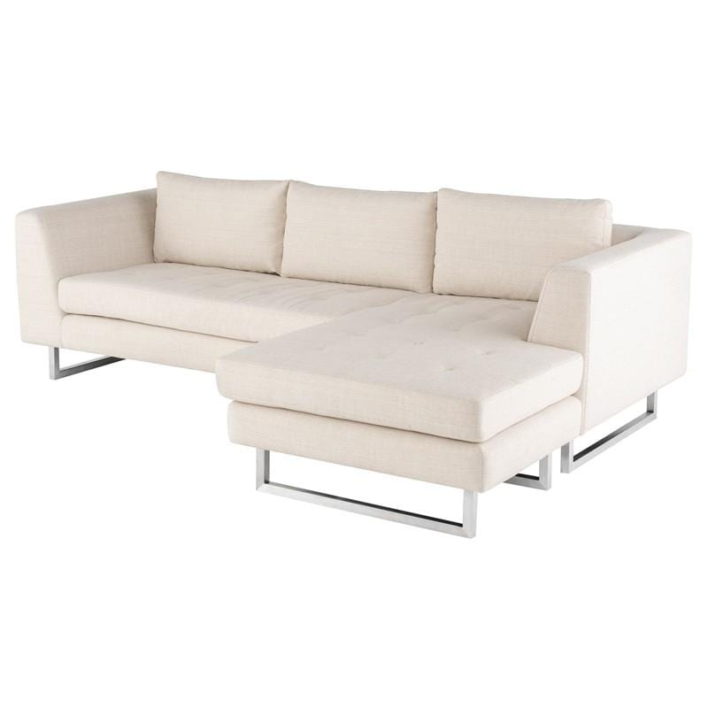Nuevo Matthew Sectional Sofa - Sand | Alchemy Fine Home