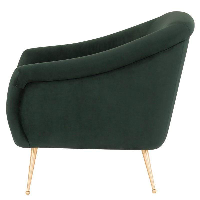 Nuevo Lucie Occasional Chair - Emerald Green | Alchemy Fine Home