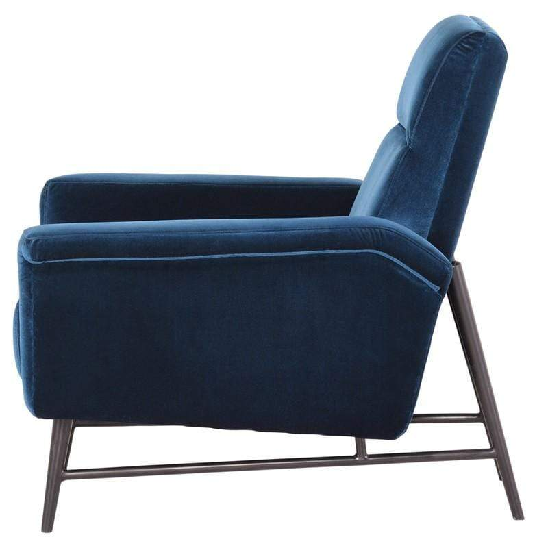 Nuevo Mathise Occasional Chair - Midnight Blue | Alchemy Fine Home