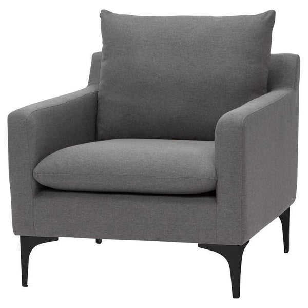 Nuevo Anders Single Seat Sofa - Slate Grey | Alchemy Fine Home