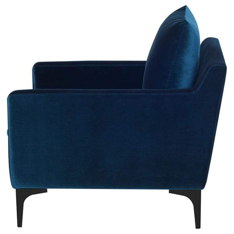 Nuevo Anders Single Seat Sofa - Midnight Blue | Alchemy Fine Home