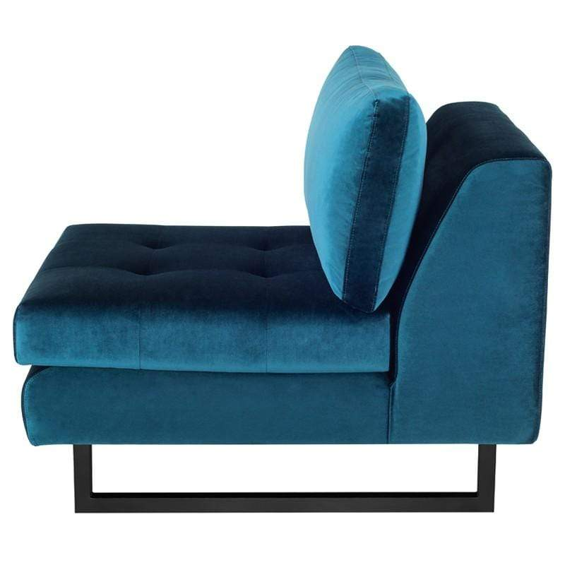 Nuevo Janis Seat Armless Sofa - Midnight Blue | Alchemy Fine Home