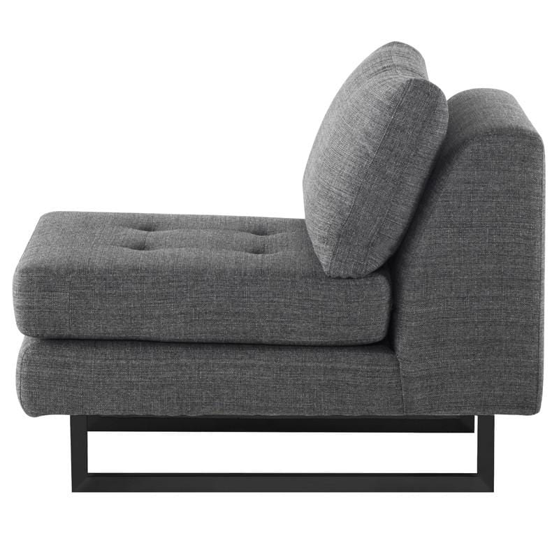 Nuevo Nuevo Janis Seat Armless Sofa - Dark Grey Tweed