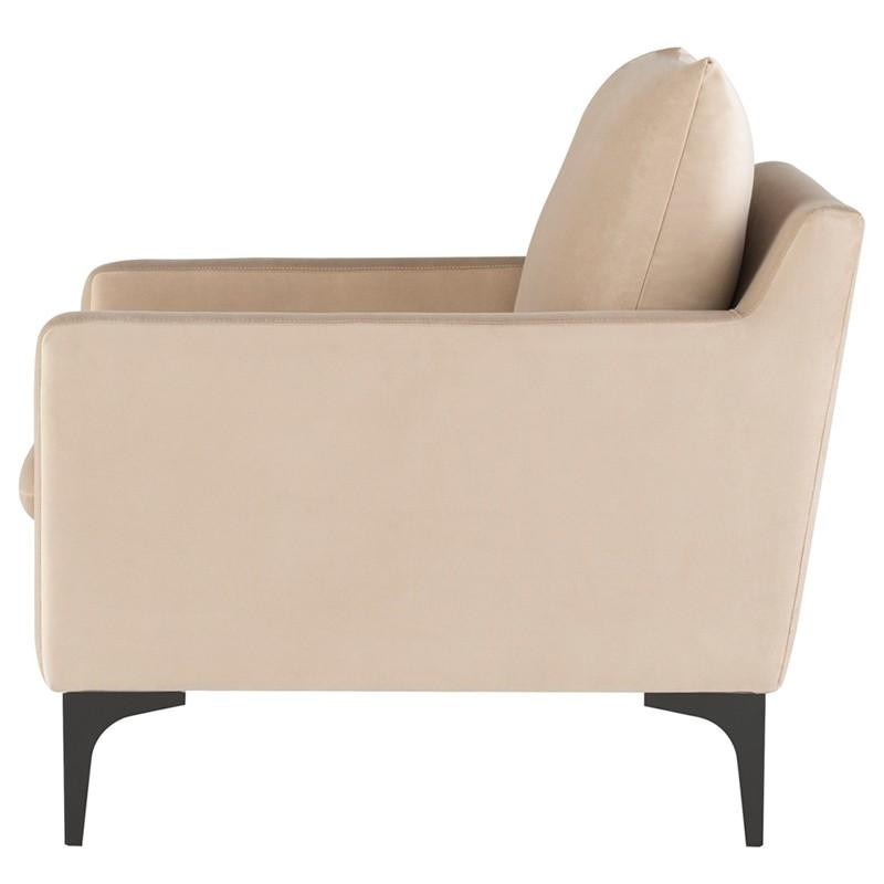 Nuevo Anders Single Seat Sofa - Nude | Alchemy Fine Home